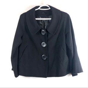 Lapis Anthropologie SZS short blazer large button